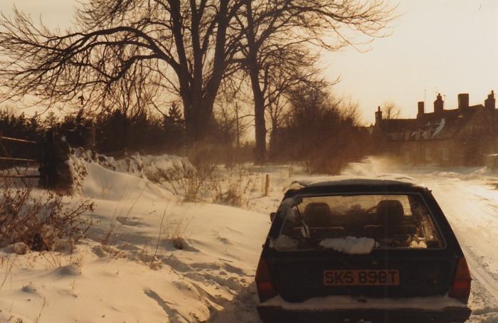 vw passat in snow march-april 1985 c43